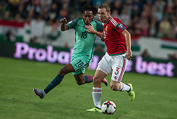 September 3, 2017 - Budapest, Hungary - Gelson Martins (L) of Portugal in action with Mihaly Korhut (R) of Hungary during the World Cup qualification match between Hungary and Portugal at Groupama Arena on Nov 03, 2017 in Budapest, Hungary. (Credit Image: © Robert Szaniszlo/NurPhoto via ZUMA Press)