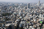 Tokyo seen from a high rise building looking down on Ebisu area