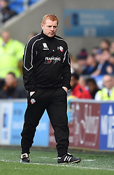 Bolton Wanderers Manager, Neil Lennon on the side line at Cardiff City Stadium - Photo mandatory by-line: Paul Knight/JMP - Mobile: 07966 386802 - 06/04/2015 - SPORT - Football - Cardiff - Cardiff City Stadium - Cardiff City v Bolton Wanderers - Sky Bet Championship