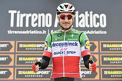 March 15, 2019 - Pomarance, Italia, Italia - Foto LaPresse/Fabio Ferrari .15/03/2019 Pomarance (Italia) .Sport Ciclismo.Tirreno-Adriatico 2019 - edizione 54 - da Pomarance a Foligno  (226 km) .Nella foto:Elia Viviani (Deceuninck - Quick-Step)..Photo LaPresse/Fabio Ferrari .March 15, 2018 Pomarance (Italy).Sport Cycling.Tirreno-Adriatico 2019 - edition 54 - Pomarance to Foligno (140 miglia) .In the pic:Elia Viviani  (Credit Image: © Fabio Ferrari/Lapresse via ZUMA Press)