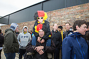 Watford fans during the Sky Bet Championship match between Watford and Sheffield Wednesday at Vicarage Road, Watford, England on 2 May 2015. Photo by Phil Duncan.