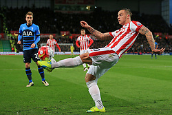 Marko Arnautovic of Stoke City clears the ball - Mandatory by-line: Matt McNulty/JMP - 18/04/2016 - FOOTBALL - Britannia Stadium - Stoke, England - Stoke City v Tottenham Hotspur - Barclays Premier League