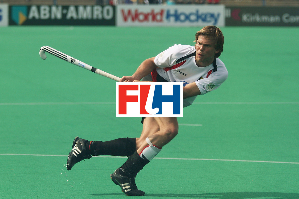 Kakamigahara (Japan): Moritz Fuerste scoring the fourth goal against Poland in the Olympic Hockey Qualifier at Gifu Perfectural Green Stadium at Kakamigahara on 12 April 2008. Germany beat Poland 5-0.  Photo: GNN/ Vino John