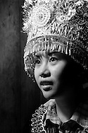 Kaili, Guizhou, China, August 10th 2007: Portrait of a 21 year old Miao woman..Photo: Joseph Feil