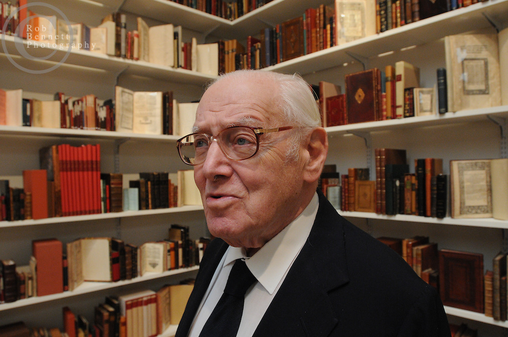 Here, Jack Lunzer, custodian of the Valmadonna Trust Library..---.Manhattan, New York: Tue, Feb 10, 2009: Sotheby's, 1334 York Ave, New York, NY: The Valmadonna Trust is the finest private library of Hebrew books and manuscripts in the world. Consisting of over 13,000 printed books and manuscripts, the library is monumental in its significance as a primary source on both world history and Jewish life and culture.  The collection boasts rarities dating from the 10th century to the early 20th century from Italy, Holland, England, Greece, Easter Europe, the Ottoman Empire, Poland, North Africa, India, and China, documenting the spread of the Hebrew press and the dissemination of Jewish culture around the globe. .---.Rob Bennett for The New York Times