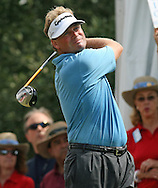 MATHIAS GRONBERG tees off at the 1st hole during the Fourth Round of the Valero Texas Open, Sunday, 7 October 2007, Resort Course at LaCantera Golf Club, San Antonio, TX.