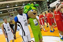 Ousman Senega Krubally during Slovenian basketball All Stars Grosuplje 2013 event, on December 29, 2013 in Arena Brinje, Grosuplje, Slovenia. (Photo By Urban Urbanc / Sportida.com)