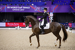 Oatley Kristy, AUS, Du Soleil<br /> Grand Prix Freestyle<br /> FEI World Cup Dressage Final, Omaha 2017 <br /> © Hippo Foto - Dirk Caremans<br /> 01/04/2017