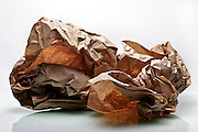 crumbled brown paper