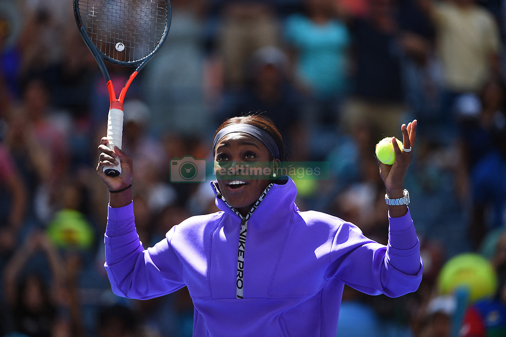 Sloane Stephens (USA) during Kid's day at the 2019 US Open at Billie Jean National Tennis Center in New York City, NY, USA, on August 24, 2019. Photo by Corinne Dubreuil/ABACAPRESS.COM