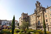SANTIAGO DE COMPOSTELA, SPAIN - 14th October 2017 - Building architecture in Santiago de Compostela, Galicia, Spain.