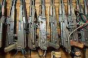 Confiscated &amp; decommissioned poacher's weapons<br /> Mbomo African Park's Congo Headquarters<br /> Odzala - Kokoua National Park<br /> Republic of Congo (Congo - Brazzaville)<br /> AFRICA