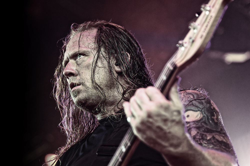 Adam Duce performing with Machine Head