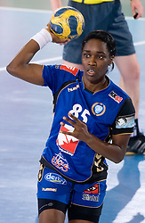 Ana Miriam Do Espirito Ferreira De Sousa of Krim during 3rd Main Round of Women Champions League handball match between RK Krim Mercator, Ljubljana and Larvik HK, Norway on February 19, 2010 in Arena Kodeljevo, Ljubljana, Slovenia. Larvik defeated Krim 34-30. (Photo by Vid Ponikvar / Sportida)