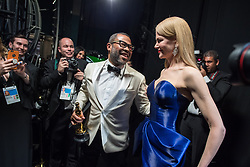 March 4, 2018 - Hollywood, California, U.S. - NICOLE KIDMAN poses backstage after presenting the Oscar for Best Original Screenplay to JORDAN PEELE for work on Get Out during the live ABC Telecast of The 90th Oscars at the Dolby Theatre in Hollywood. (Credit Image: ? Matt Petit/AMPAS via ZUMA Wire/ZUMAPRESS.com)