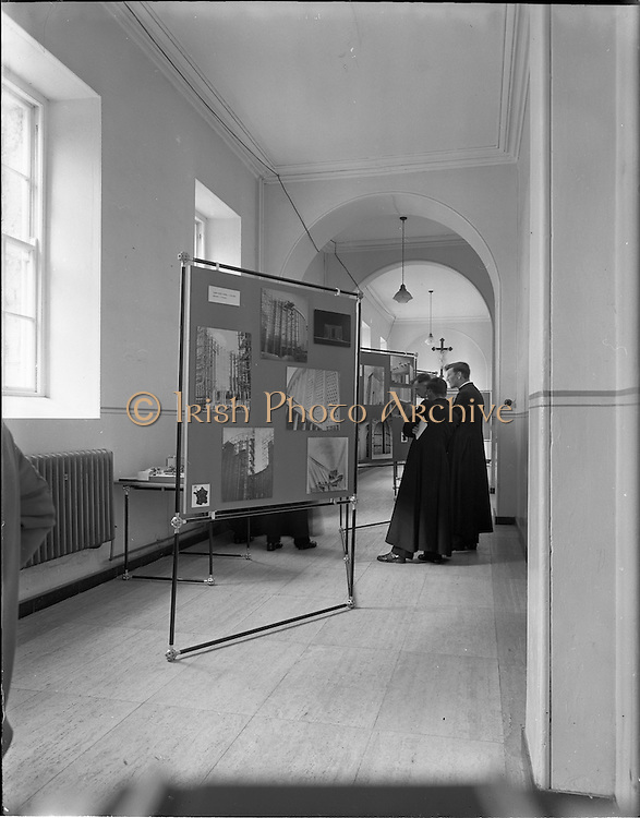 12/06/1957.06/12/1957.12 June 1957.Exhibition of French Church Art and architecture at Maynooth College. For Mr. Cantwell, architect 13 Fitzwilliam Place.