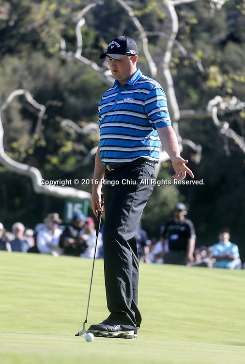 Jason Kokrak plays in the Final Round of the Northern Trust Open at the Riviera Country Club on February 21, 2016, in Los Angeles,(Photo by Ringo Chiu/PHOTOFORMULA.com)<br /> <br /> Usage Notes: This content is intended for editorial use only. For other uses, additional clearances may be required.