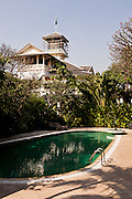 Mansion and pool set in garden and grounds of Chakrabongse Villas