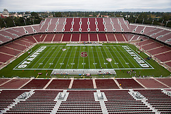 October 23, 2010; Stanford, CA, USA;  General view of Stanford Stadium before the game between the Stanford Cardinal and the Washington State Cougars.