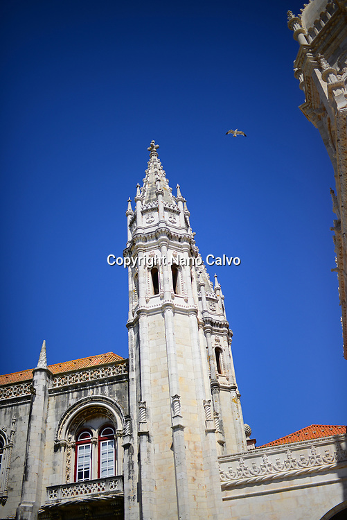 The Jeronimos Monastery or Hieronymites Monastery (The Mosteiro dos Jeronimos), a former monastery of the Order of Saint Jerome near the Tagus river in the parish of Belém, in the Lisbon Municipality, Portugal