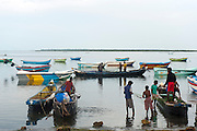 Fishermen on Jaffna lagoon.