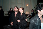 MAT COLLISHAW; POLLY MORGAN, Dinner to mark 50 years with Vogue for David Bailey, hosted by Alexandra Shulman. Claridge's. London. 11 May 2010