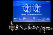 Tom Glendering, Founder of E3Think presenting at the Manhattan Chamber of Commerce's Transportation Transformation Global Summit at NYIT in New York on April 26, 2012.