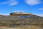Large heliostat EuroDish solar energy scientific research centre, Tabernas, Almeria, Spain