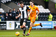 Mihai Popescu of St Mirren plays the ball during the Ladbrokes Scottish Premiership match between St Mirren and Livingston at the Simple Digital Arena, Paisley, Scotland on 2nd March 2019.