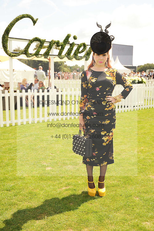 PALOMA FAITH at the Cartier International Polo at Guards Polo Club, Windsor Great Park, Berkshire on 25th July 2010.