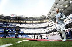 November 3, 2018 - Madrid, Madrid, Spain - Sergio Ramos(Real Madrid) seen warming up before the La Liga match between Real Madrid and Real Valladolid at the Estadio Santiago Bernabéu..Final score Real Madrid 2-0 Valladolid. (Credit Image: © Manu Reino/SOPA Images via ZUMA Wire)