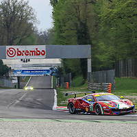 #71, AF Corse Ferrari, Ferrari 488 GTE, driven by Davide Rigon, Sam Bird, FIA WEC 2017 Prologue, Autodromo Nazionale Monza, 02/04/2017,