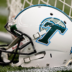 Sep 11, 2010; New Orleans, LA, USA; A Tulane Green Wave helmet is seen on the sideline during the second half against the Mississippi Rebels at the Louisiana Superdome. The Mississippi Rebels defeated the Tulane Green Wave 27-13.  Mandatory Credit: Derick E. Hingle