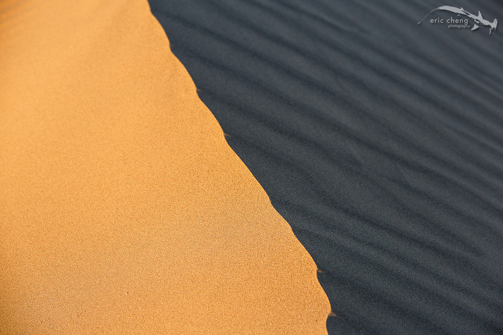 The edge of a dune at Mesquite Dunes, Death Valley, California