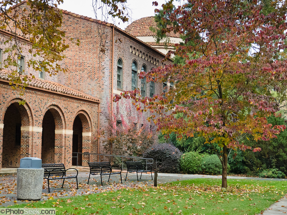 "Fall foliage colors brighten the Chico State campus. California State University, Chico (CSUC) is the second-oldest campus (1887) in the state's 23-campus system. The current administration building Kendall Hall was built on the site of the Normal School in 1929. The university is still commonly called ""Chico State"" after the 1935-1972 Chico State College and 1921-1935 Chico State Teacher's College. Chico State teaches nearly 16,000 students and is known for academic excellence in engineering, science, computing, business, technology, environmental studies, Theatre Arts, and communication."