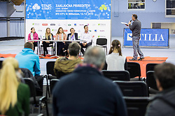 Kaja Juvan, Nina Potocnik, Manca Pislak, Marko Umberger and Gregor Krusic at Istenic doubles Tournament and Slovenian Tennis personality of the year 2015 annual awards presented by Slovene Tennis Association TZS, on December 12, 2015 in Millenium Centre, BTC, Ljubljana, Slovenia. Photo by Vid Ponikvar / Sportida