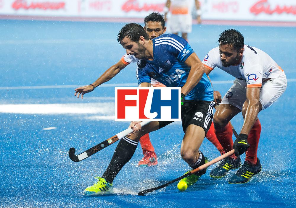 BHUBANESWAR -  Hockey World League finals , Semi Final . Argentina v India. Agustin Bugallo (Arg)   COPYRIGHT KOEN SUYK