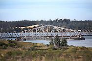 Railroad Bridge open at Coos Bay, Oregon