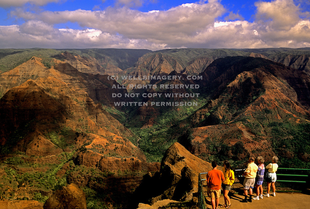 Image of Waimea Canyon State Park on Kauai, Hawaii, Hawaiian Islands