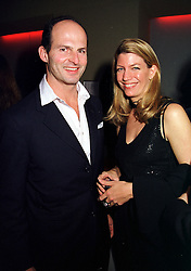 COUNT & COUNTESS RICCARDO PAVONCELLI she was Cosima Von Bulow daughter of Claus Von Bulow, at a party in London on 25th November 1999.<br /> MZJ 54