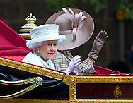 "THE QUEEN APPEARS TO BE GIVING CAMILLA TIPS ON WAVING TO THE CROWDS.The Queen was riding in the carriage with Prince Charles and Camilla for the trip from Westminster Hall to Buckingham Palace for the Finale of the 4 day Diamond Jubilee Celebration.  London_05/06/2012.Mandatory Credit Photo: ©J Reynolds/NEWSPIX INTERNATIONAL..**ALL FEES PAYABLE TO: ""NEWSPIX INTERNATIONAL""**..IMMEDIATE CONFIRMATION OF USAGE REQUIRED:.Newspix International, 31 Chinnery Hill, Bishop's Stortford, ENGLAND CM23 3PS.Tel:+441279 324672  ; Fax: +441279656877.Mobile:  07775681153.e-mail: info@newspixinternational.co.uk"