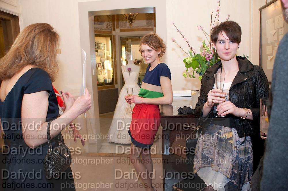ZOE ROSS, Smythson Royal Wedding exhibition preview. Smythson together with Janice Blackburn has commisioned 5 artist designers to create their own interpretations of  Royal wedding memorabilia. Smythson. New Bond St. London. 5 April 2011.  -DO NOT ARCHIVE-© Copyright Photograph by Dafydd Jones. 248 Clapham Rd. London SW9 0PZ. Tel 0207 820 0771. www.dafjones.com.
