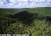 View from Kinzua Bridge, Kinzua Bridge State Park, McKean Co., PA. Aerial Photograph Pennsylvania