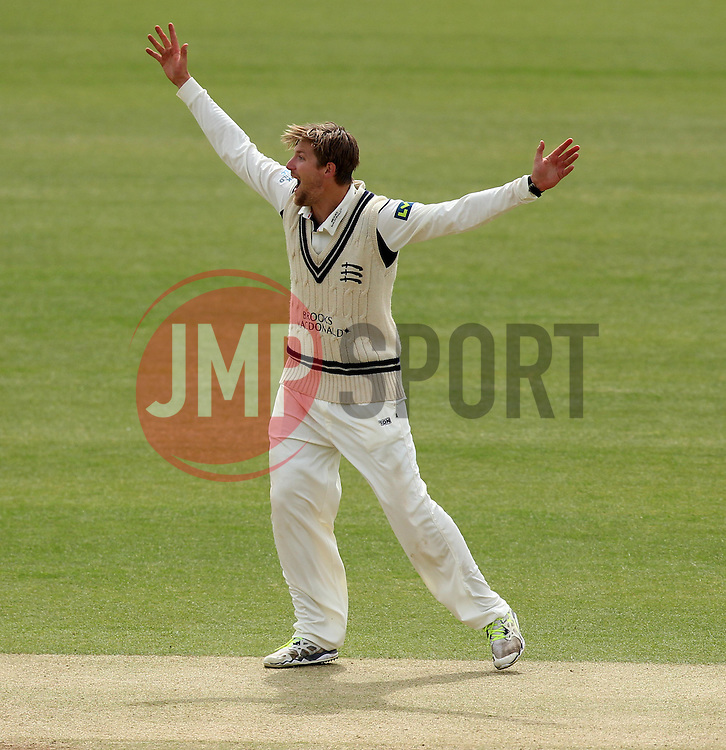 Middlesex's Ollie Rayner appeals for an LBW - Photo mandatory by-line: Robbie Stephenson/JMP - Mobile: 07966 386802 - 04/05/2015 - SPORT - Football - London - Lords  - Middlesex CCC v Durham CCC - County Championship Division One