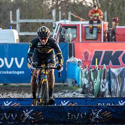 2019-12-27 Cycling: dvv verzekeringen trofee: Loenhout: Corne van Kessel leading the race