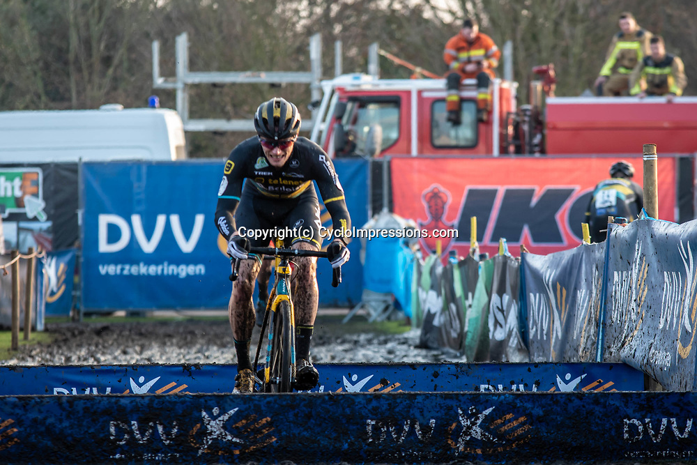 2019-12-27 Cycling: dvv verzekeringen trofee: Loenhout: Corne van Kessel leading the race