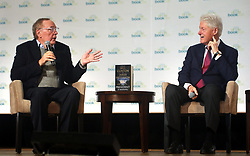 """President Bill Clinton, James Patterson BookCon interview for their book """"The President Is Missing"""". 03 Jun 2018 Pictured: President Bill Clinton, James Patterson. Photo credit: SteveSands/NewYorkNewswire/MEGA TheMegaAgency.com +1 888 505 6342"""