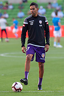 MELBOURNE, VIC - JANUARY 19: Perth Glory midfielder Juande (27) watches on during warm up at the Hyundai A-League Round 14 soccer match between Melbourne City FC and Perth Glory at AAMI Park in VIC, Australia 19th January 2019. Image by (Speed Media/Icon Sportswire)