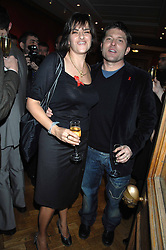 TRACEY EMIN and KENNY GOSS at the Lighthouse Gala Auction in aid of the Terence Higgins Trust held at Christie's, St.James's, London on 12th March 2007.<br />