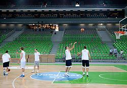 Goran Jagodnik at practice of Slovenia basketball team before opening of the new sports arena in Stozice on August 10, 2010, in Ljubljana, Slovenia.  (Photo by Vid Ponikvar / Sportida)
